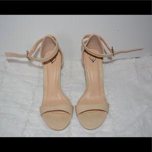 WINDSOR Nude Ankle Strap Heels